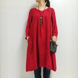 ルクマニ Vネックドレス